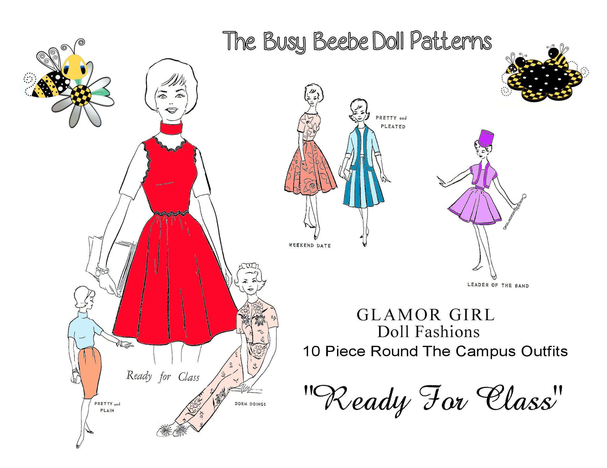 "Httpsghiroph Comca Fashion Darling: Glamour Girl's ""Ready For Class"" Pattern $6.99"