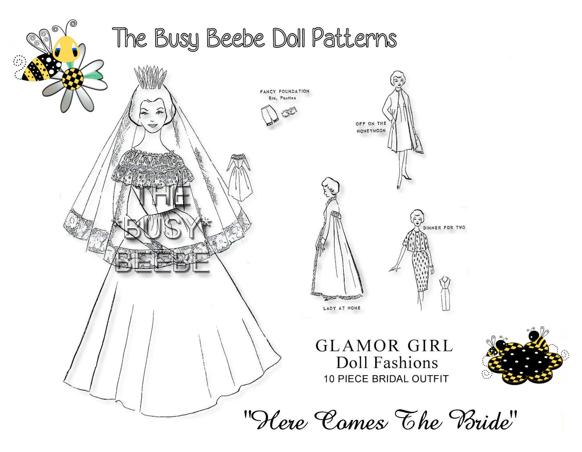 "Httpsghiroph Comca Fashion Darling: Glamour Girl's ""Here Comes The Bride"" Pattern $6.99"