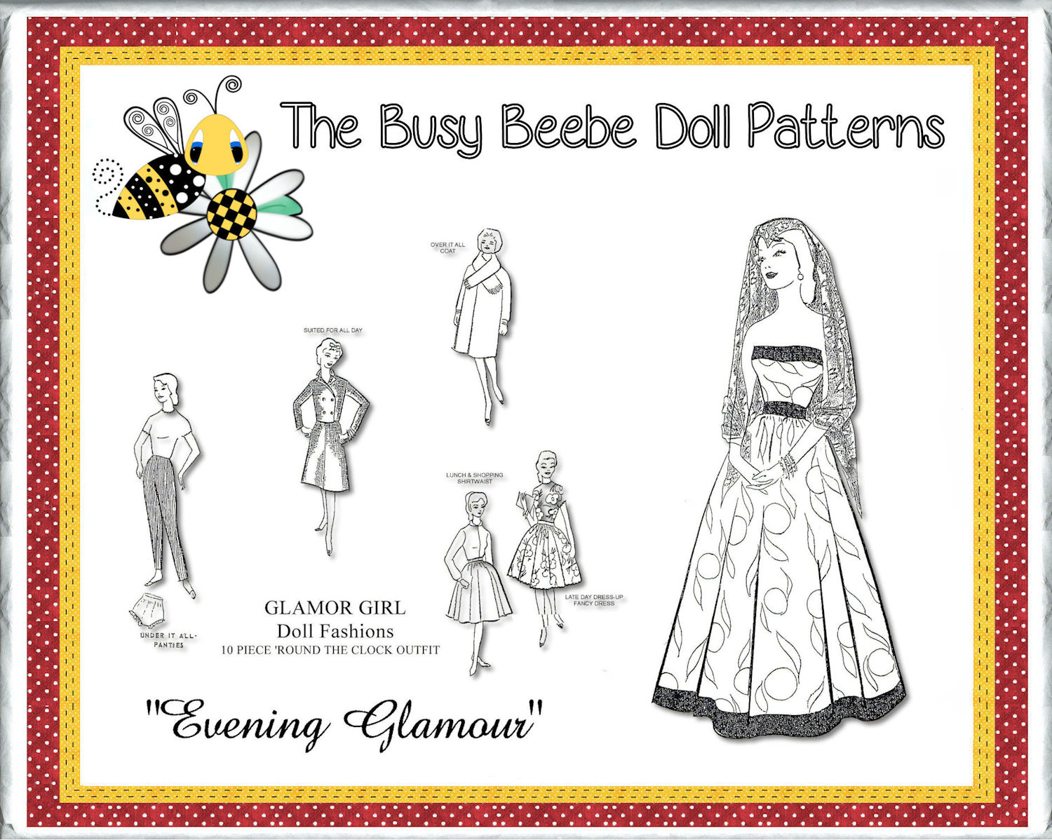 "Httpsghiroph Comca Fashion Darling: Glamour Girl's ""Evening Glamour"" Pattern $6.99"