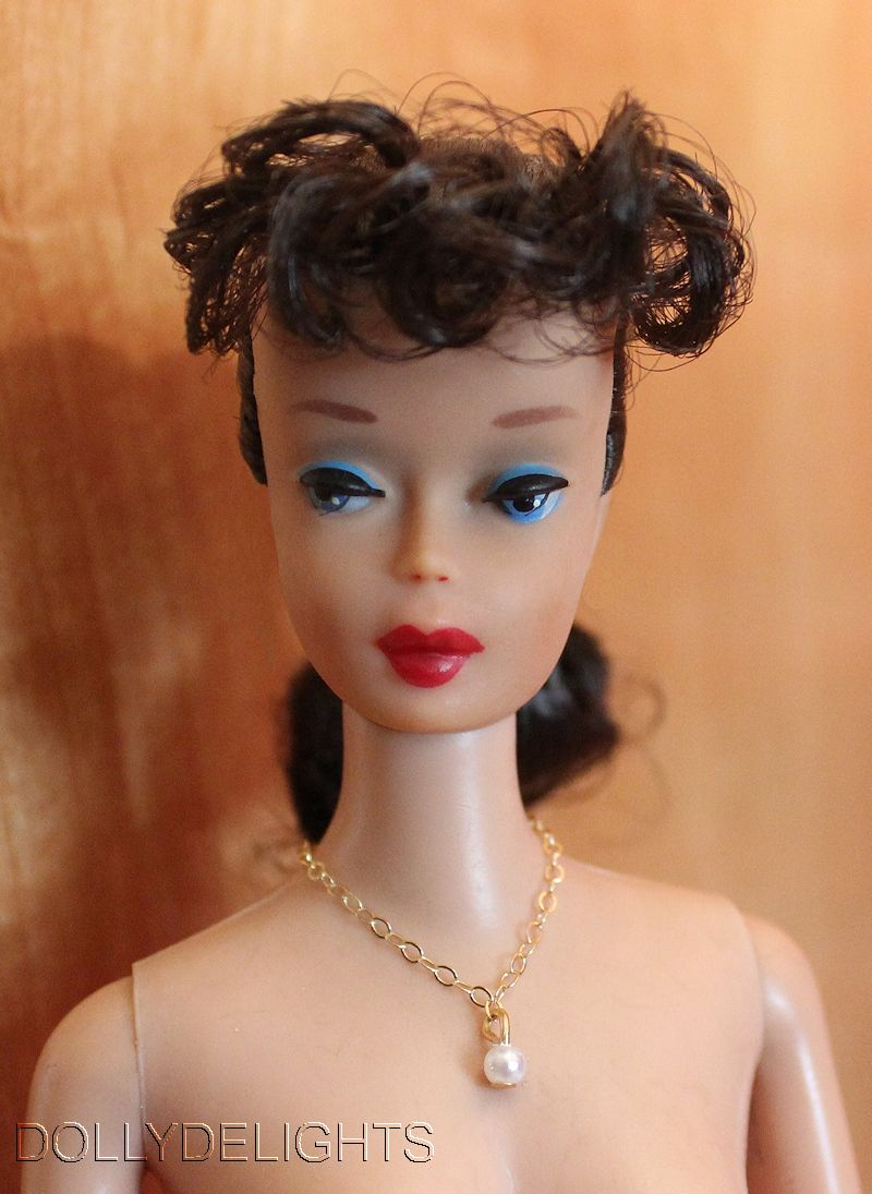 Dreamz WHITE DROP PEARL NECKLACE Doll Jewelry VINTAGE REPRO made for Barbie